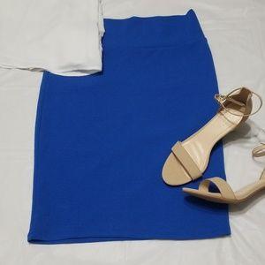 EUC Pencil Skirt Cobalt Blue Lularoe Cassie
